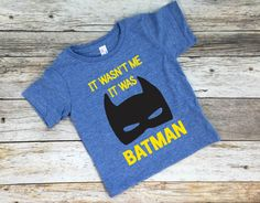 Who doesnt want to be Batman? This shirt is perfect for the Batman and/or superhero lover in your life! Lola Bleutique shirts are printed on high quality tees by American Apparel & Royal Apparel. Every shirt is made in the USA and hand pressed with love, by me, here in Los Angeles. Soft and lightweight, these shirts make a wonderful gift for any occasion...or even for your little one! These are perfect for birthdays, baby showers, or simply a just because gift.  Available in sizes: -...