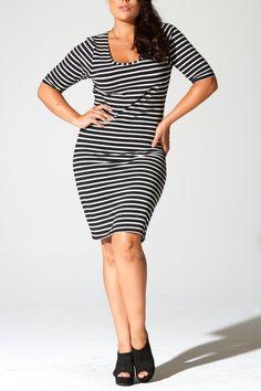 Plus Size Body Con Dress