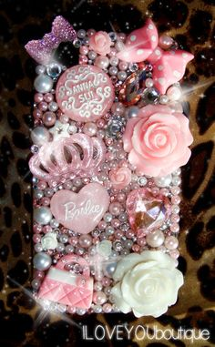 iPhone 4/4S Kawaii Decoden Phone Case  Pearly by ILOVEYOUboutique, $36.00