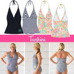 Monogrammed Tankini Monogrammed Swimsuit by StylishMonogramGifts