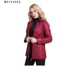 51c07bb75f6 MS VASSA Autumn Parkas Women 2018 Ladies Winter Jackets cotton padded  fashion quilting elastic coats plus size outerwear - Happiest Women