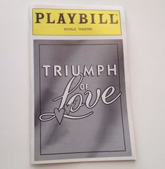 Playbill 1997 Triumph of Love Betty Buckley Royale Theatre Broadway