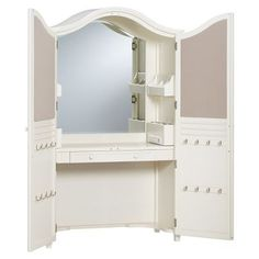 PB Teen vanity armoire - Wish list item for my home office.   http://www.pbteen.com/m/products/vanity-armoire/moreimages.html