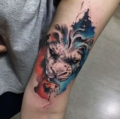 Lion tattoo by Jonatas Araujo