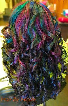 Fun hair colors, rusk, Hair By Nicole in Saginaw, TX.