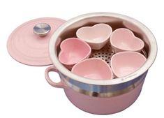 Le Creuset pink heart set