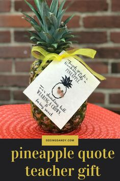 Such cute pineapple earrings! This teacher appreciation gift is the perfect thank you for the end of the school year. Plus, there's a FREE printable making the gift a super easy one to create. #jewelry #printables #teachers #gifts #diy