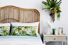 Tropical Brookhaven rattan bedhead | Naturally Cane Rattan and Wicker Furniture