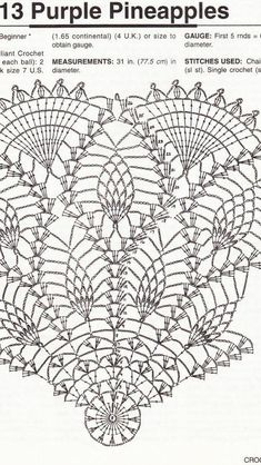 Doilies for Dressing Table pattern by Lily Mills Company Crochet Doily Diagram, Crochet Motif Patterns, Crochet Mandala, Crochet Art, Crochet Round, Crochet Home, Thread Crochet, Vintage Crochet, Crochet Stitches