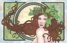 Resultado de imagen de art nouveau isis