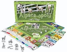 """ALPACA-OPOLY is a customized """"property trading"""" game that allows players to immerse themselves in the wonderful world of alpacas. If you like Monopoly, you'll LOVE Alpaca-opoly! As players travel arou"""