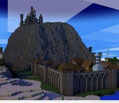 minecraft turn mountain into castle - Google Search