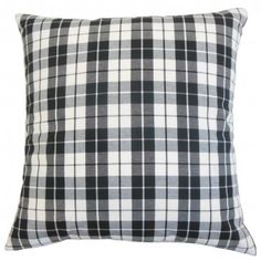 The Pillow Collection Joss Plaid Bedding Sham Color: Black, Size: Standard Plaid Bedding, Plaid Throw Pillows, Toss Pillows, Linen Bedding, Floor Pillows, Bed Linen, Bedding Sets, Decorative Pillow Covers, Throw Pillow Covers