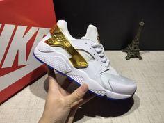 c876b7eb0ae7 Cheap Nike Air Huarache 1 Suede Gold Unisex White Gold