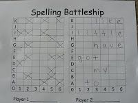 Mrs. T's First Grade Class: Spelling Battleship