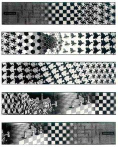 M. C. Escher; Metamorphosis