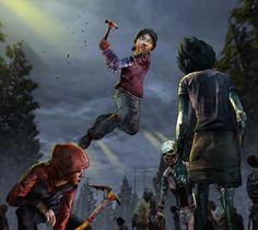 Badass Clementine and Molly at season 1 | The Walking Dead (Telltale Game) twdg fanart