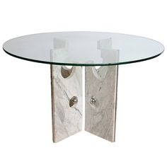 1stdibs | Marble Table Attributed to Louis Sognot