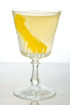 Twentieth Century Cocktail Recipe -  This 1937 British cocktail, named for a train that ran between Manhattan and Chicago for much of the twentieth century, strikes an unexpected balance between velvety crème de cacao and refreshing gin, lemon juice, and Lillet. -Saveur.com