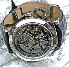 Luxury Watches For Mens : Skeleton watch… Amazing Watches, Beautiful Watches, Cool Watches, Watches For Men, Casual Watches, Unique Watches, Ladies Watches, Vintage Watches, Dream Watches