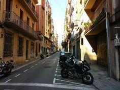 Seitenstraße in Barcelona