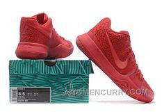 the best attitude 227e1 e874a Nike Kyrie 3 Mens BasketBall Shoes All Red Christmas Deals YXp65M