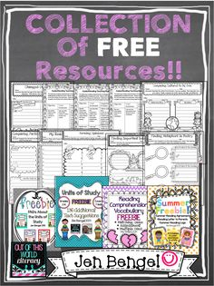 A Collection of FREE Reading, Writing, Language, and Spelling Resources for grades 2-8!!
