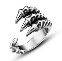Dragon Claw Ring Item Type: Rings Fine or Fashion: Fashion Surface Width: 10mm Rings Type: Wedding Bands Style: Classic Gender: Men Setting Type: None Material: None Occasion: Party Metals Type: Stain