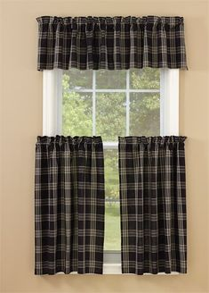 Window Curtain Lined Layered Valance Black Coffee by Park Designs
