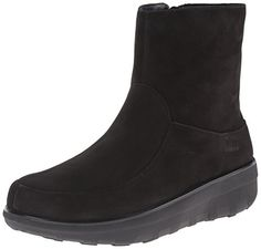 FitFlop Women's Loaff Shorty Zip Nubuck Winter Boot, Black, 9 M US ** You can get additional details at the image link.