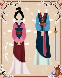 mulan 2 | paper dolls by cory