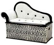 "Wild Side Bench/Toy Box with Storage features - Sophisticated ""fainting couch"" design, Removable back, arm and seat cushions, Slow-closing metal safety hinge Kids Storage Bench, Storage Bench Seating, Toy Storage, Kids Bench, Seat Storage, Storage Ideas, Creative Storage, My Princess, Modern Princess"