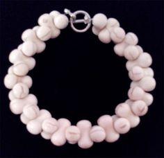Interlocking Bone Shaped Howlite Bracelet by BeadedAssortment Craft Items, Bones, Pearl Necklace, Shapes, Pearls, Unique Jewelry, Handmade Gifts, Bracelets, Etsy
