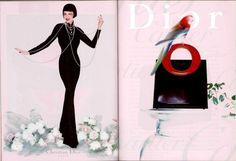 Campaign: Christian Dior Season: Fall 1997 Photographer: Nick Knight Model(s): Linda Evangelista, Shalom Harlow, Yasmeen Ghauri