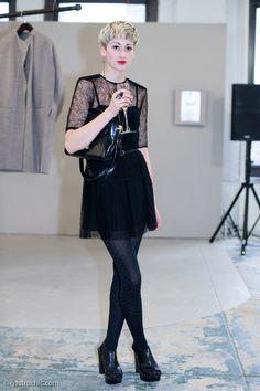 Black Lace Party Dress, Parsons MFA Exhibit