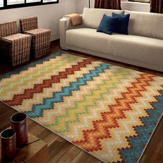 for a kids room. Orian Rugs Candy Chevron Area Rug