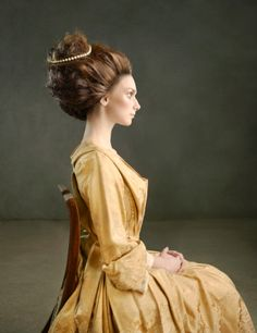 profile of a woman in 18th century clothes