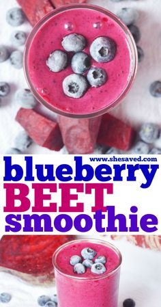 Add this heathy food option into your breakfast routine! This blueberry beet smoothie recipe is perfect, with just a few ingredients and so easy to make! Drinks Alcohol Recipes, Fruit Recipes, Drink Recipes, Delicious Recipes, Best Smoothie Recipes, Good Smoothies, Beet Smoothie, Fruit Dishes, Few Ingredients