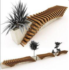 Saksılı bahçe bank tasarımları