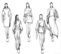 Fashionary drawing 1 by Vikki Yau, via Behance