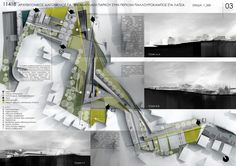 Just plans and sections but not boring. Urban Park of Palouriotissa , Latsia, Cyprus Architecture Panel, Architecture Graphics, Urban Architecture, Architecture Portfolio, Architecture Diagrams, Architecture Presentation Board, Presentation Layout, Presentation Boards, Architectural Presentation