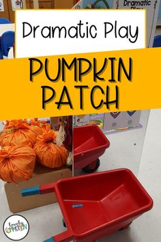Creating a pumpkin patch in your dramatic play center is perfect for your fall preschool and pre-k classrooms. Fall Preschool, Preschool Learning Activities, Preschool Classroom, Classroom Organization, Organization Ideas, Dramatic Play Centers, Play Centre, Early Education, A Pumpkin