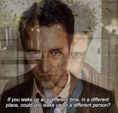 Discovered by Monalisa Fernandes. Find images and videos on We Heart It - the app to get lost in what you love. Edward Norton, Cinema Quotes, Film Quotes, Old Movie Posters, Movie Poster Art, Fight Club Quotes, Fight Club 1999, Celebration Quotes, Old Movies