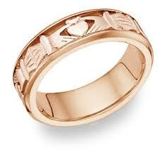 Image result for rose gold mens wedding bands