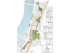 The team of Erect Architecture and J&L Gibbons landscape architects were chosen in a competition organized by RIBA and Vauxhall One for a design creating a High Line style park along the river Thames.