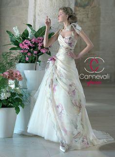 Vestido de novia estampado - Vestito da Sposa - Nouvelle
