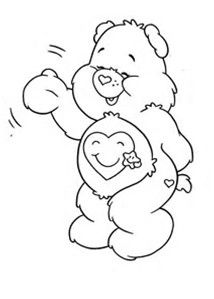 secret bear coloring pages care bears | Care Bears Coloring-020 | Crafty (80's Care Bears ...