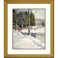Global Gallery 'The Old Stone Wall' by George Gardiner Symons Framed Painting Print Size: