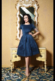Kristina Dress in Blue by Laura Byrnes Black Label