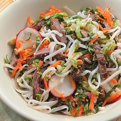Japanese beef noodle bowl cold